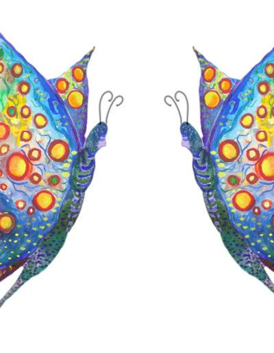 Schmetterling bunt doppelt