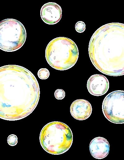 Seifenblasen für Inlet