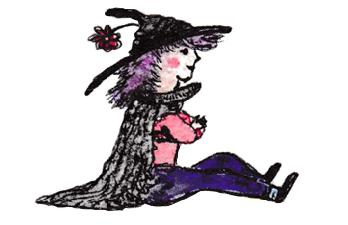 kleine Hexe auf Linie